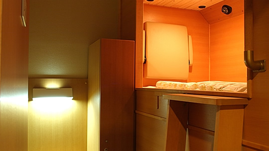 Deluxe Private Sleeping Capsule Cabins