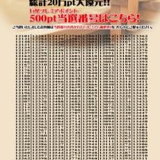 マイページログインキャンペーン<br>当選番号発表!