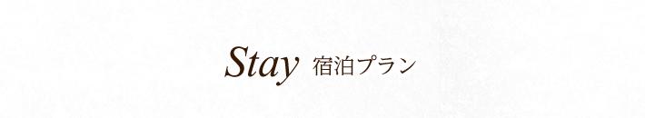 Stay 宿泊プラン