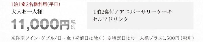 大人お一人様10,800円(税別)