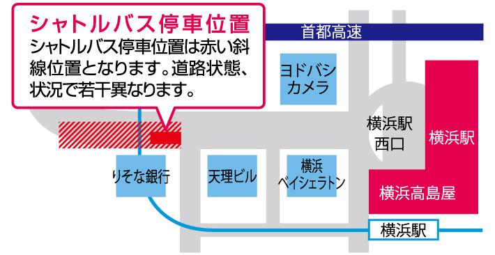 シャトルバス停車位置