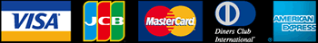 利用可能カード一覧 VISA・JCB・MasterCard・DinersClub・AMERICAN EXPRESS