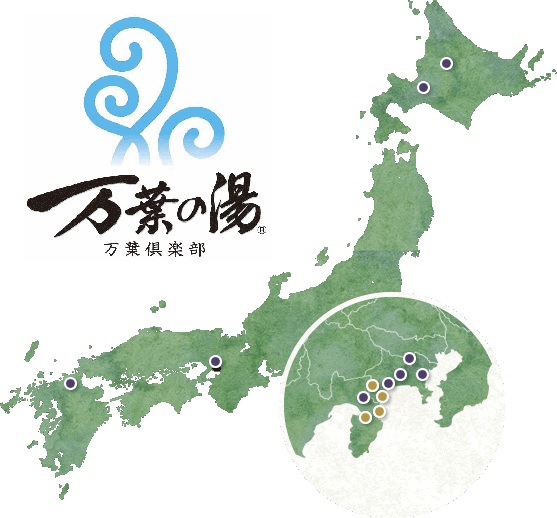 Manyo Club Group Locations Map.