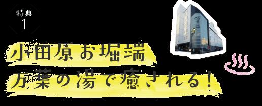 小田原お堀端万葉の湯で癒される!